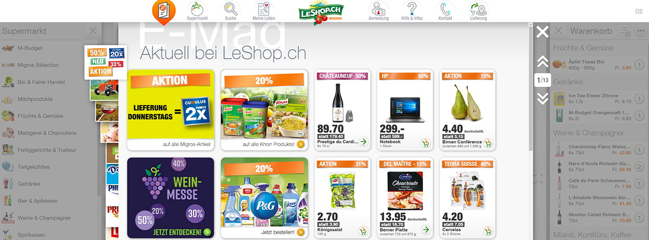 LeShop online grocery store